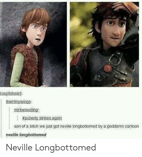 Neville Longbottomed: rospitsheart  theirtinywings:  mirkwoodling:  # puberty strikes again  son of a bitch we just got neville longbottomed by a goddamn cartoon  neville longbottomed Neville Longbottomed
