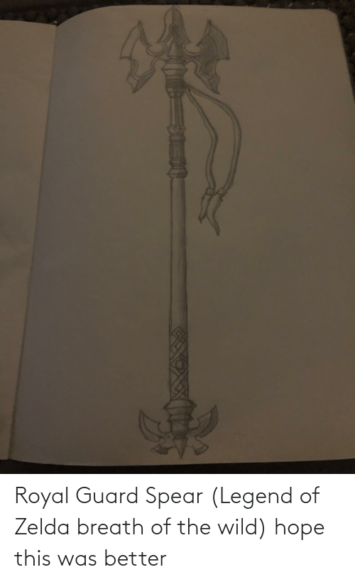 Zelda: Royal Guard Spear (Legend of Zelda breath of the wild) hope this was better