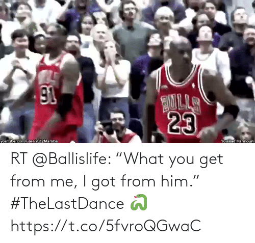 """i got: RT @Ballislife: """"What you get from me, I got from him.""""   #TheLastDance 🐍  https://t.co/5fvroQGwaC"""