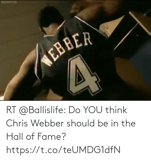 hall of fame: RT @Ballislife: Do YOU think Chris Webber should be in the Hall of Fame? https://t.co/teUMDG1dfN