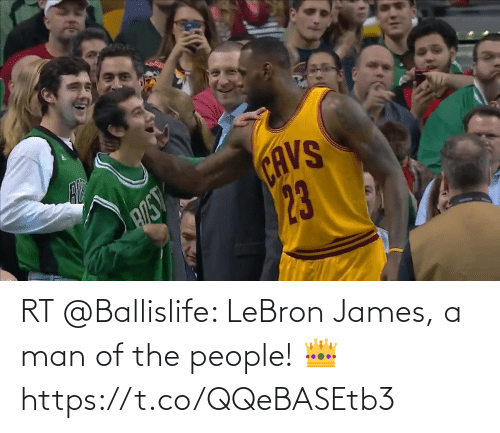 james: RT @Ballislife: LeBron James, a man of the people! 👑  https://t.co/QQeBASEtb3