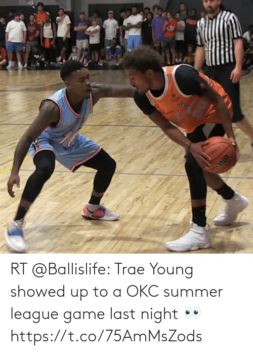 Young: RT @Ballislife: Trae Young showed up to a OKC summer league game last night 👀 https://t.co/75AmMsZods