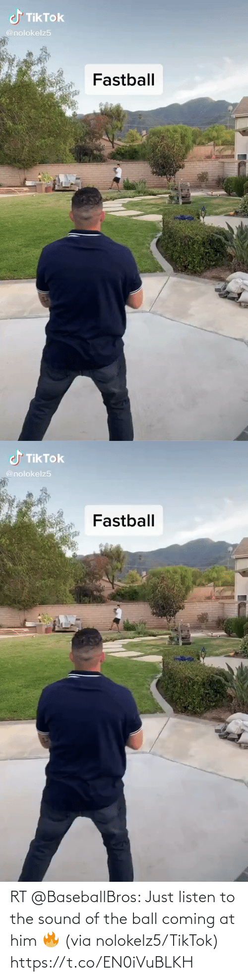 coming: RT @BaseballBros: Just listen to the sound of the ball coming at him 🔥 (via nolokelz5/TikTok) https://t.co/EN0iVuBLKH