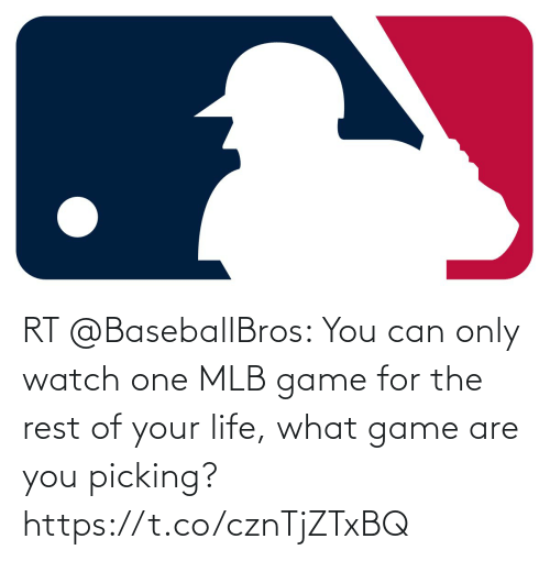 MLB: RT @BaseballBros: You can only watch one MLB game for the rest of your life, what game are you picking? https://t.co/cznTjZTxBQ