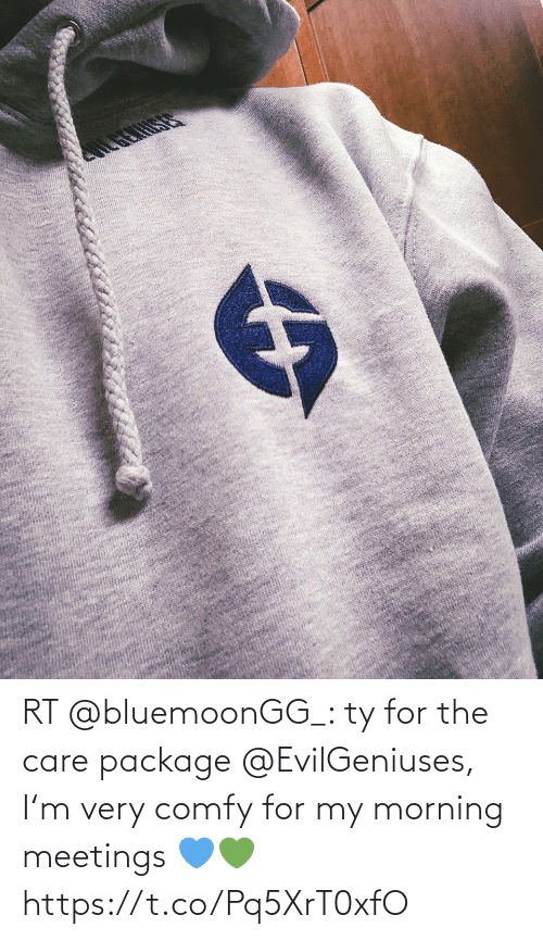 morning: RT @bluemoonGG_: ty for the care package @EvilGeniuses, I'm very comfy for my morning meetings 💙💚 https://t.co/Pq5XrT0xfO