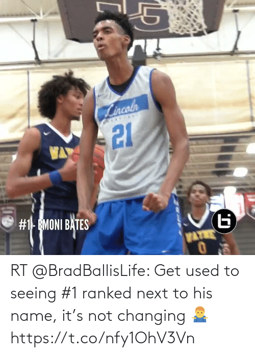used: RT @BradBallisLife: Get used to seeing #1 ranked next to his name, it's not changing 🤷♂️  https://t.co/nfy1OhV3Vn
