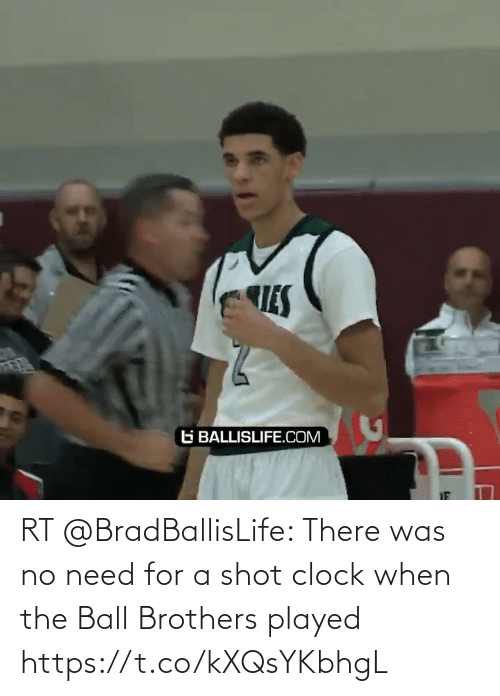 brothers: RT @BradBallisLife: There was no need for a shot clock when the Ball Brothers played   https://t.co/kXQsYKbhgL