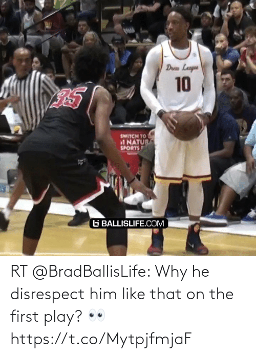 play: RT @BradBallisLife: Why he disrespect him like that on the first play? 👀  https://t.co/MytpjfmjaF