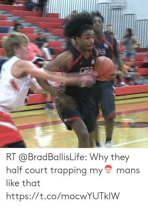 court: RT @BradBallisLife: Why they half court trapping my👨🏻🦰 mans like that   https://t.co/mocwYUTkIW