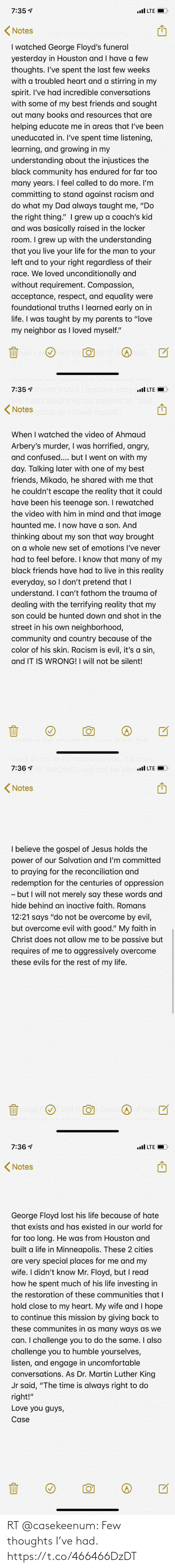 thoughts: RT @casekeenum: Few thoughts I've had. https://t.co/466466DzDT