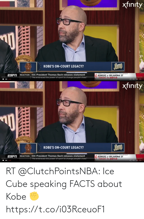 Ice Cube: RT @ClutchPointsNBA: Ice Cube speaking FACTS about Kobe ✊ https://t.co/i03RceuoF1