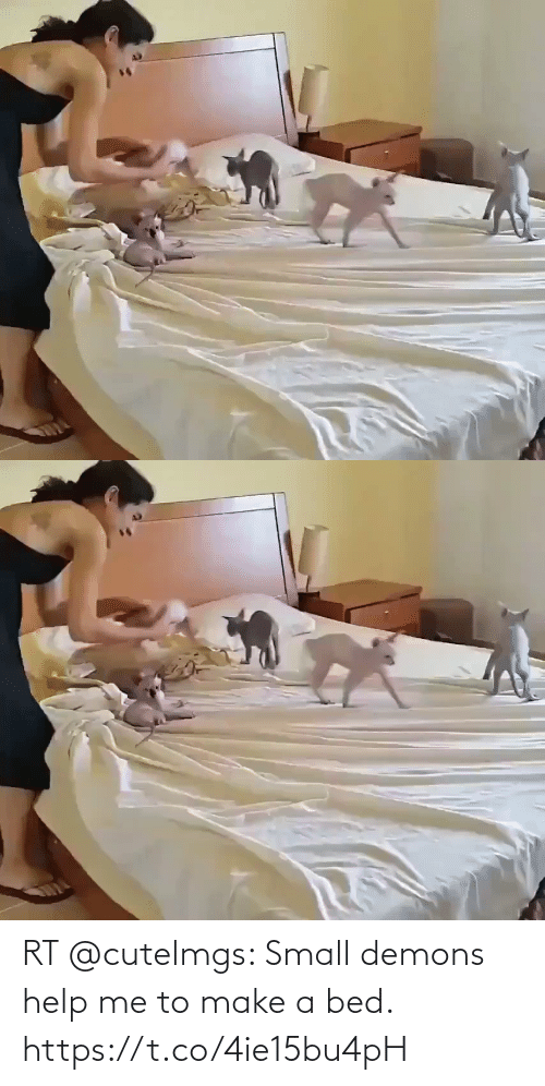 Me To: RT @cutelmgs: Small demons help me to make a bed. https://t.co/4ie15bu4pH