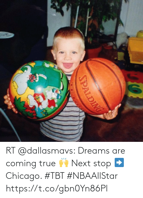 TBT: RT @dallasmavs: Dreams are coming true 🙌 Next stop ➡️ Chicago. #TBT #NBAAllStar https://t.co/gbn0Yn86Pl