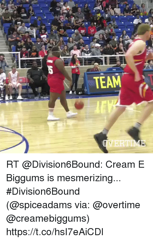 Sports, Cream, and Via: RT @Division6Bound: Cream E Biggums is mesmerizing... #Division6Bound  (@spiceadams via: @overtime @creamebiggums) https://t.co/hsI7eAiCDl