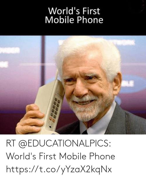 first: RT @EDUCATlONALPICS: World's First Mobile Phone https://t.co/yYzaX2kqNx