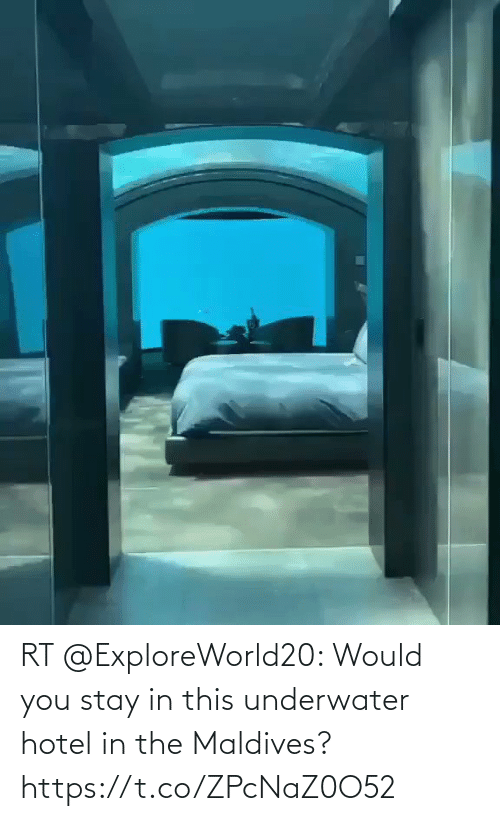 Hotel: RT @ExploreWorld20: Would you stay in this underwater hotel in the Maldives? https://t.co/ZPcNaZ0O52