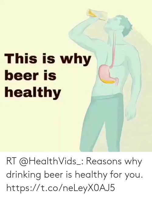 Beer: RT @HealthVids_: Reasons why drinking beer is healthy for you. https://t.co/neLeyX0AJ5