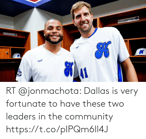 fortunate: RT @jonmachota: Dallas is very fortunate to have these two leaders in the community https://t.co/pIPQm6ll4J
