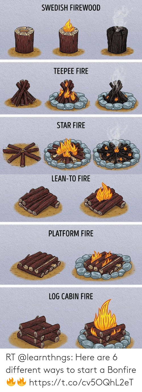 start a: RT @learnthngs: Here are 6 different ways to start a Bonfire🔥🔥 https://t.co/cv5OQhL2eT