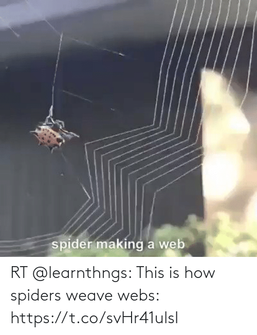 Spiders: RT @learnthngs: This is how spiders weave webs: https://t.co/svHr41ulsI