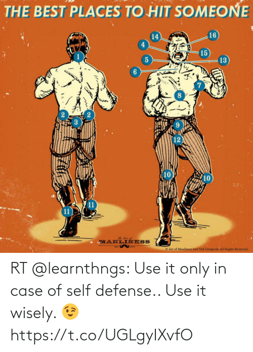 use: RT @learnthngs: Use it only in case of self defense.. Use it wisely. 😉 https://t.co/UGLgyIXvfO