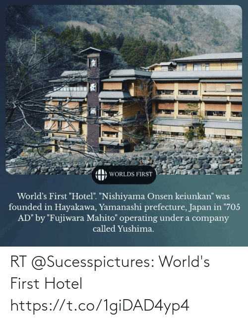 Hotel: RT @Sucesspictures: World's First Hotel https://t.co/1giDAD4yp4