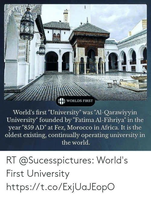 university: RT @Sucesspictures: World's First University https://t.co/ExjUaJEopO