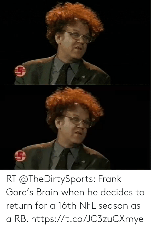 Frank Gore: RT @TheDirtySports: Frank Gore's Brain when he decides to return for a 16th NFL season as a RB. https://t.co/JC3zuCXmye