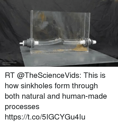 Memes, 🤖, and How: RT @TheScienceVids: This is how sinkholes form through both natural and human-made processes https://t.co/5IGCYGu4Iu