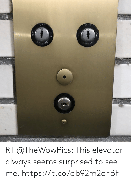 surprised: RT @TheWowPics: This elevator always seems surprised to see me. https://t.co/ab92m2aFBF