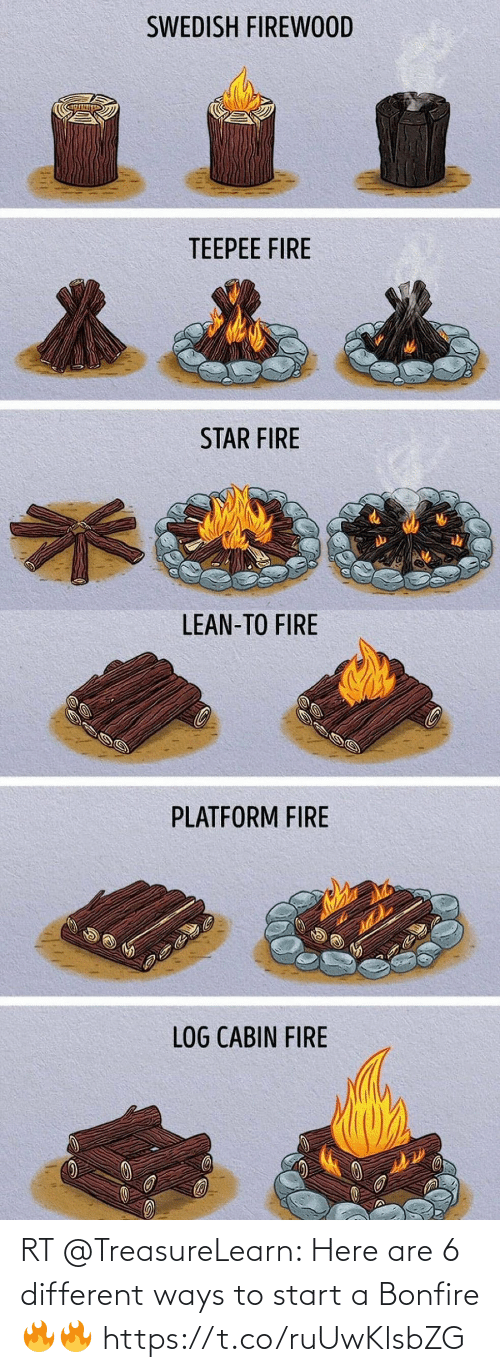 start a: RT @TreasureLearn: Here are 6 different ways to start a Bonfire🔥🔥 https://t.co/ruUwKlsbZG