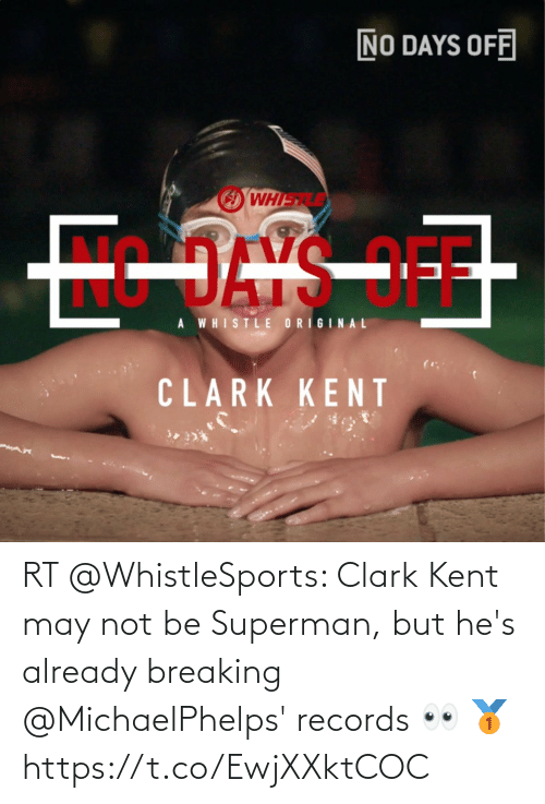 breaking: RT @WhistleSports: Clark Kent may not be Superman, but he's already breaking @MichaelPhelps' records 👀 🥇 https://t.co/EwjXXktCOC