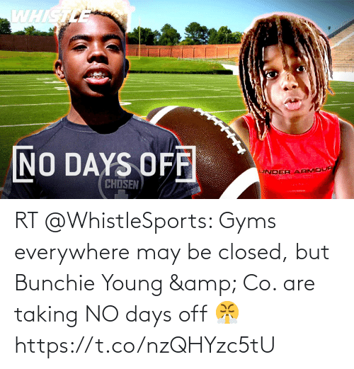 may: RT @WhistleSports: Gyms everywhere may be closed, but Bunchie Young & Co. are taking NO days off 😤 https://t.co/nzQHYzc5tU