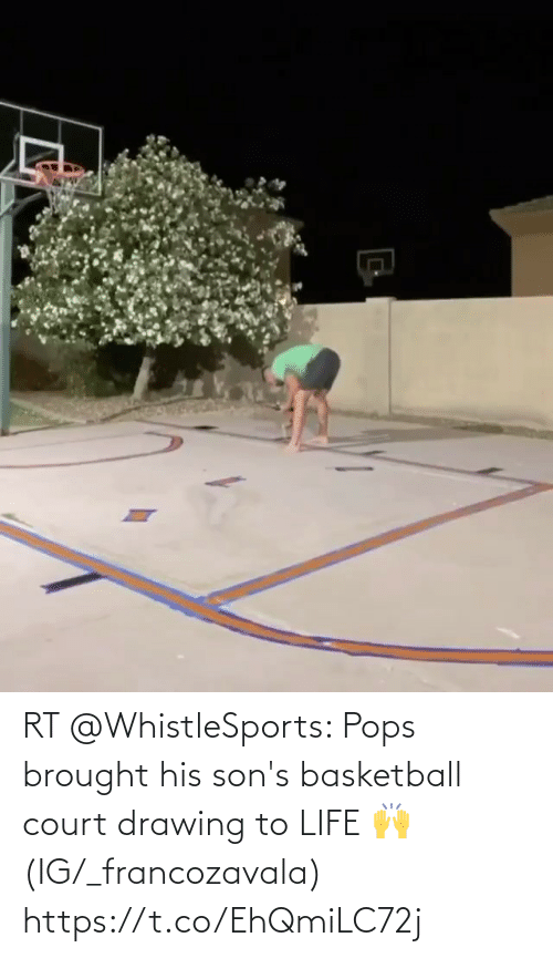 court: RT @WhistleSports: Pops brought his son's basketball court drawing to LIFE 🙌  (IG/_francozavala) https://t.co/EhQmiLC72j