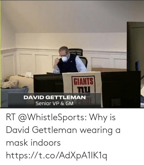 Indoors: RT @WhistleSports: Why is David Gettleman wearing a mask indoors https://t.co/AdXpA1IK1q