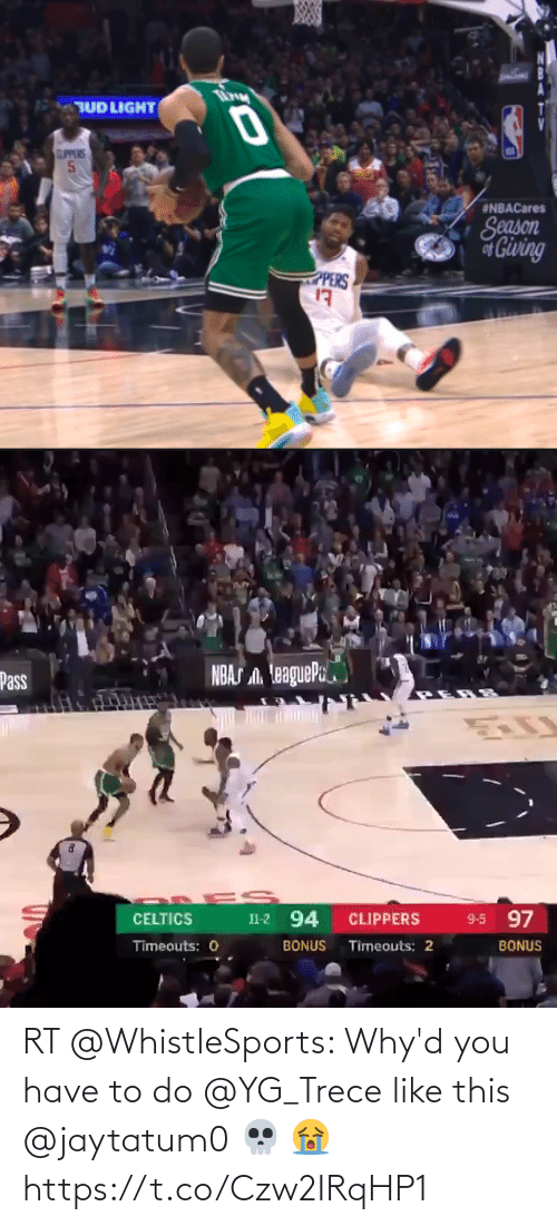 To Do: RT @WhistleSports: Why'd you have to do @YG_Trece like this @jaytatum0 💀 😭 https://t.co/Czw2IRqHP1