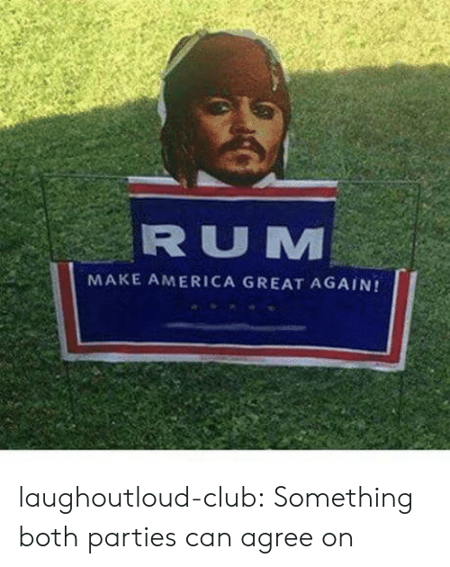 make america great again: RUM  MAKE AMERICA GREAT AGAIN! laughoutloud-club:  Something both parties can agree on