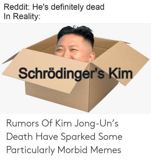 kim: Rumors Of Kim Jong-Un's Death Have Sparked Some Particularly Morbid Memes