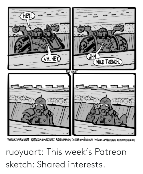 sketch: ruoyuart:  This week's Patreon sketch: Shared interests.