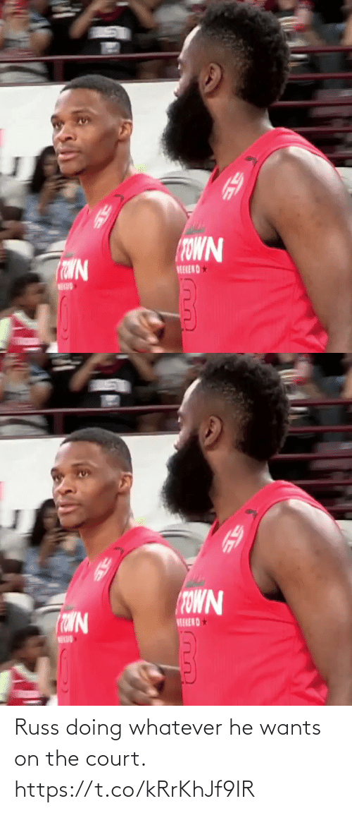 court: Russ doing whatever he wants on the court. https://t.co/kRrKhJf9IR