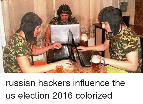 Russian, Hackers, and Election: russian hackers influence the us election 2016 colorized