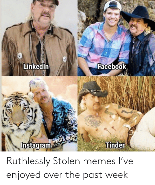The Past: Ruthlessly Stolen memes I've enjoyed over the past week