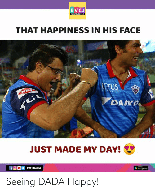 Google, Memes, and Happy: RVCJ  THAT HAPPINESS IN HIS FACE  TTUS  DAKP  JUST MADE MY DAY!  ORVcJ Media  Google Pay Seeing DADA Happy!