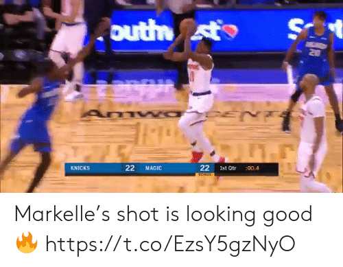 Magic: S  outh st  Z0  22  KNICKS  MAGIC  Ist Qtr  :00.4  22 Markelle's shot is looking good🔥 https://t.co/EzsY5gzNyO