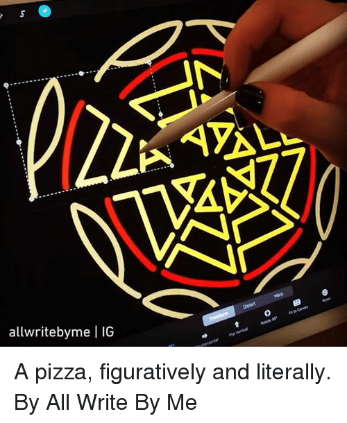 0 9: SA  allwritebyme | IG  0 9 A pizza, figuratively and literally.  By All Write By Me