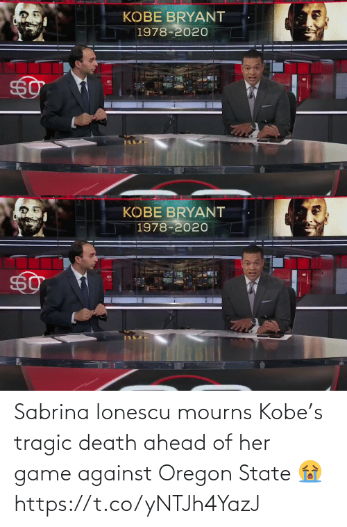 Death: Sabrina Ionescu mourns Kobe's tragic death ahead of her game against Oregon State 😭 https://t.co/yNTJh4YazJ