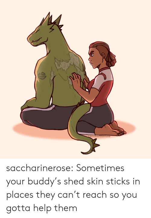Tumblr, Blog, and Help: saccharinerose saccharinerose:  Sometimes your buddy's shed skin sticks in places they can't reach so you gotta help them