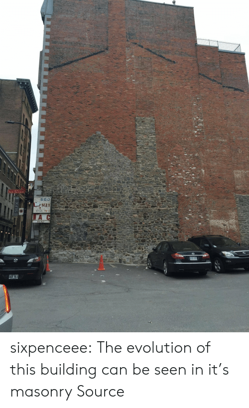 Evolution Of: Saint-Sacrement  MAX  tiIE eR  A  MERC  BJL 28  STN 800 sixpenceee: The evolution of this building can be seen in it's masonry Source