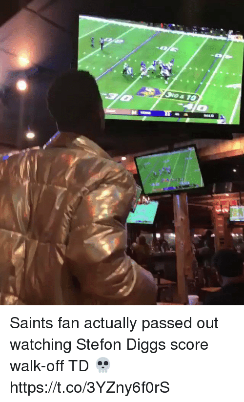 Stefon: Saints fan actually passed out watching Stefon Diggs score walk-off TD 💀  https://t.co/3YZny6f0rS