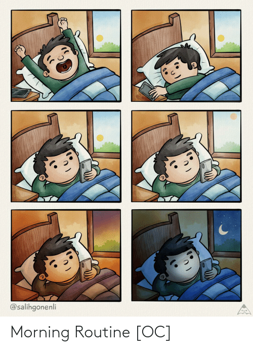 Morning, Morning Routine, and Routine: @salihgonenli Morning Routine [OC]